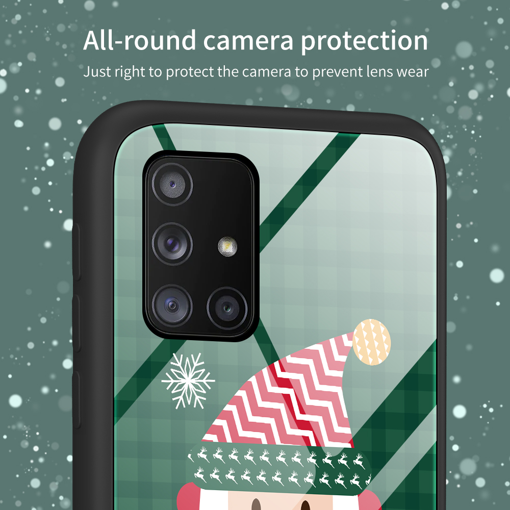 Merry Christmas Tempered Glass Case For Samsung Galaxy S20