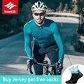 2019 Santic  длинный рукав  для мужчин  для велоспорта  Джерси  дышащие  быстросохнущие  MTB  для шоссейного велосипеда  топы  весна  осень  для езды  ...