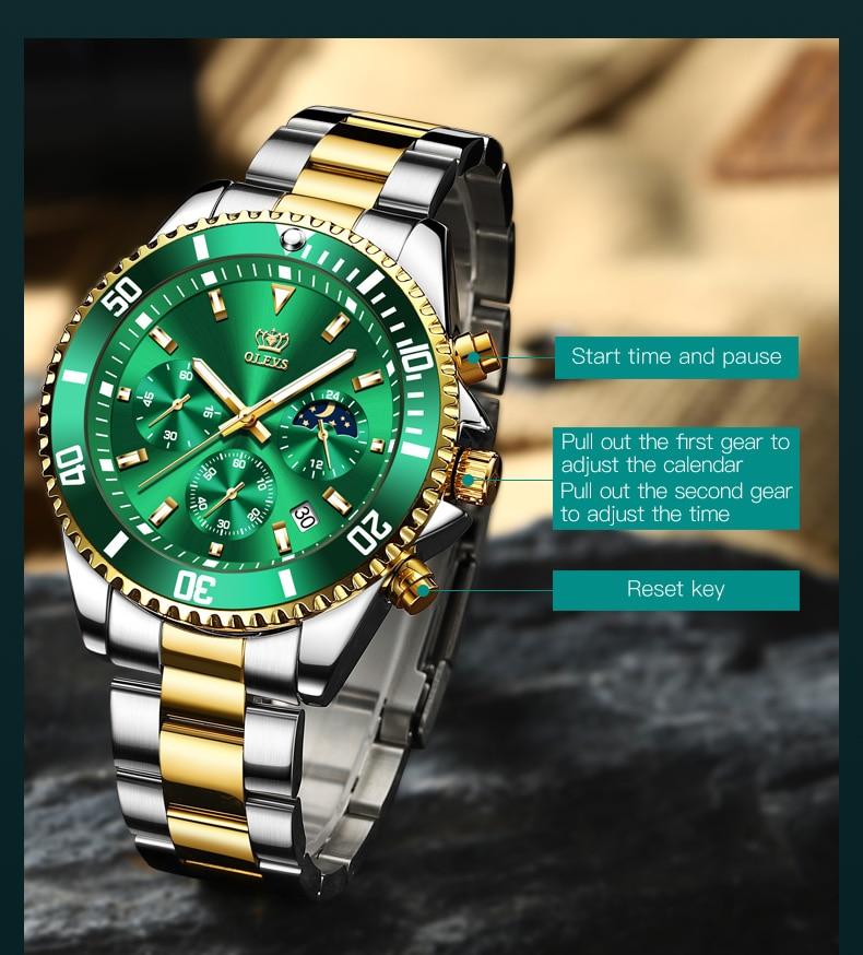OLEVS 2870 Waterproof Stainless Steel Casual Watch 15