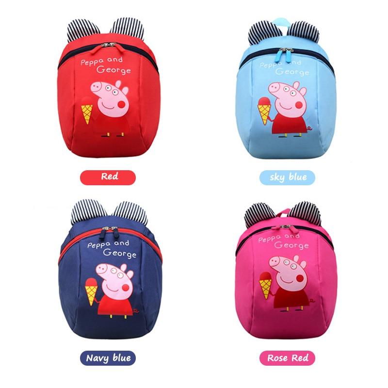 Peppa Pig Children's Backpack George Backpack Plush Stuffed Toys Child Girls Boys Kindergarten School Bag For Kids Gift