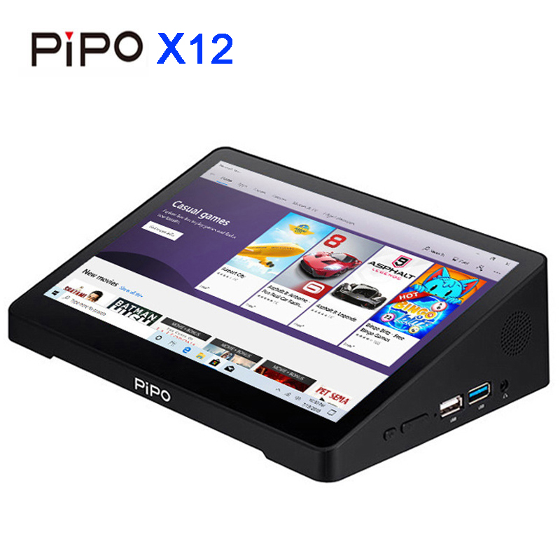 Pipo X12 Mini PC 10.8inch IPS1920*1280 4G RAM 64G ROM Cherry Trail Z8350 TV BOX Quad Core BT HDMI Win10 10000mAh