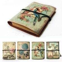 Cuaderno de cuero PU de papelería Vintage creativo planificador de papel Kraft cuaderno de bocetos Agenda Cuadernos para uso diario