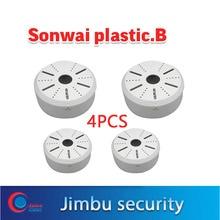 כיפת IP מצלמה קיר סוגר ABS פלסטיק 4PCS האוניברסלי אבטחת cctv מצלמה סוגר החל טיבטי קופסא פלסטיק
