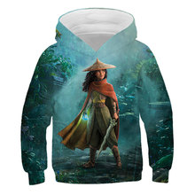 New Cartoon Film Rhea And The Last Dragon in 2021 Rhea spring and autumn 3D printing Hoodie Boys and girls fashion casual Hoodie