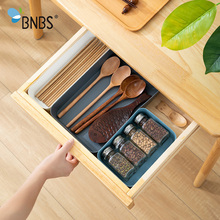 Buy BNBS Plastic Serving Cutlery Tray Storage Organizer For Cutlery Tray For Dawers Kitchen Digital Accessories cosmetics Drawer Box directly from merchant!
