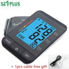 (초박형 + 전원 케이블) 자동 혈압계 마이크로 USB medidor de pressao bloeddrukmeter BP 펄스 테스터 (USB 케이블 포함)