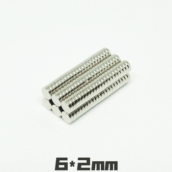 N50 10pcs-200pcs 6 x2 mm Super Strong Rare Earth Disc 6mm x 2mm Fridge Permanet Magnet 6*2mm Small Round Neodymium Magnet