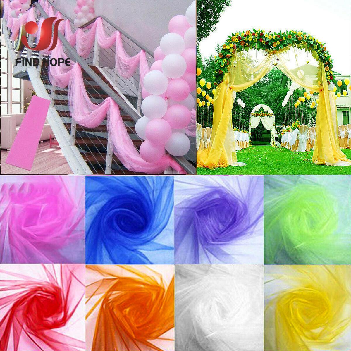 "Per Metre Red Crystal Organza Fabric 60/"" Wedding Drapes"