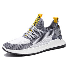 New Men Casual Shoes Flying woven Lace up Men Shoes Lightweight Comfortable Breathable Walking Sneakers Tenis Feminino Zapatos