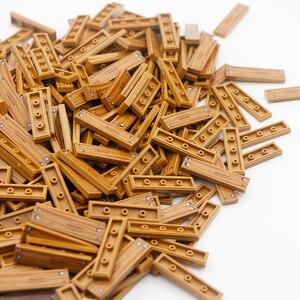 Image 5 - עיר אביזרי אבני בניין 1x4 שטוח אריח רצפת לוח קיר עץ לבני בית החווה בורא חלקי בתפזורת צבאי בניין צעצועים