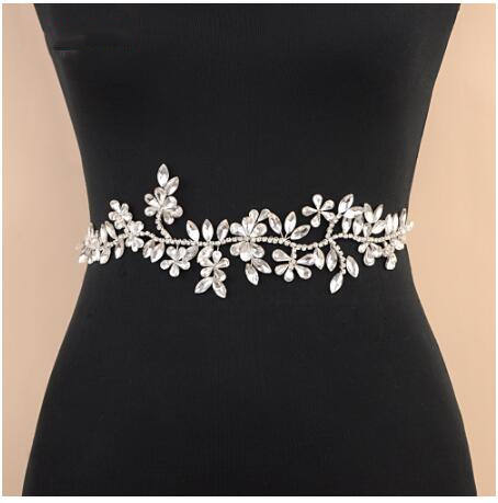 Fashion Weddig Belt Crystal Bridal Belt Crystal Rhinestones Satin Bridal Sash For Wedding Pary Dress Jewelry Accessories