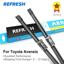 REFRESH Windscreen Wiper Blades for Toyota Avensis T250 / T270 / Verso Mk2 Mk3 Fit Hook Arms / Push Button Arms