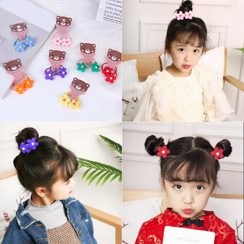 2PC Summer New Style Princess Small Hair Circle Baby Size Chirp Leather Mini Flower - discount item  20% OFF Headwear