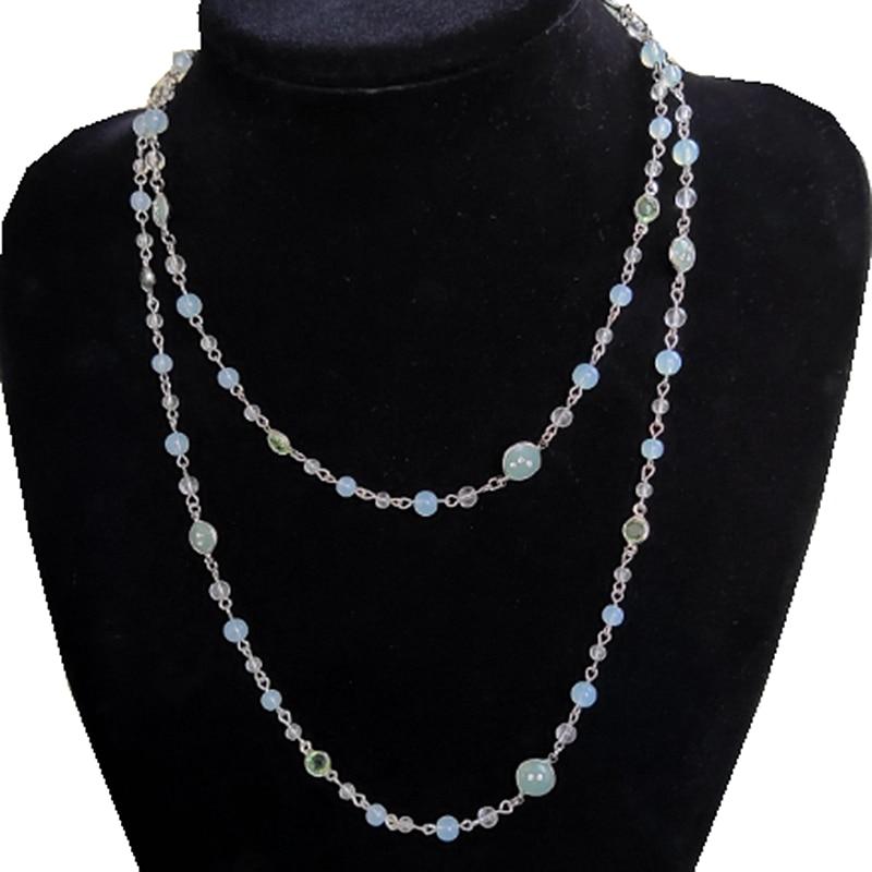 Ydgy длинное ожерелье маленькая свежая женская новая простая модная красивая универсальная цепочка для свитера для женщин