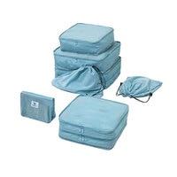 7Pcs/set Packing Cubes Travel Luggage Packing Organizer Set Men Women Waterproof travel bag Foldable Bag in Bag High Quality