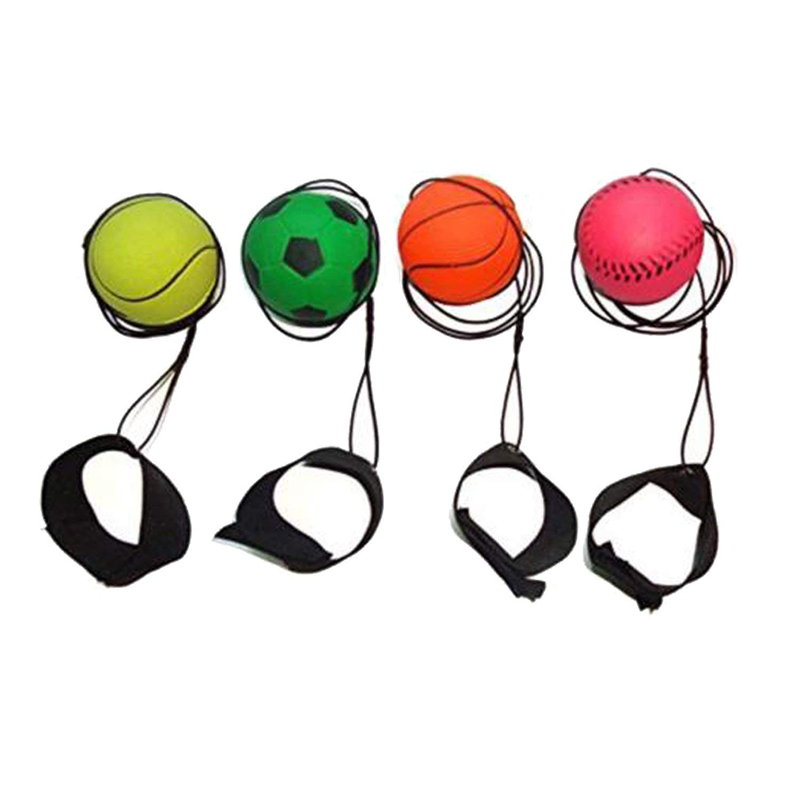 Kids Toys Bouncy Finger Band Ball Elastic Rubber Ball For Wrist Exercise Hand Finger Stiffness Relief Wrist Bounce Ball