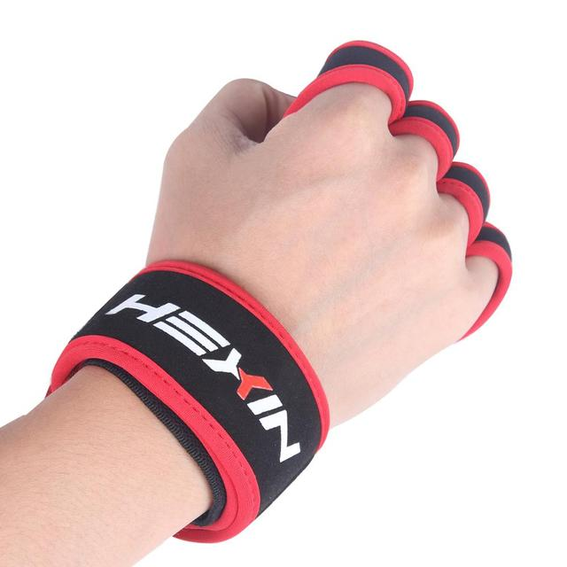 Red Weight Lifting Gloves And Support For Women