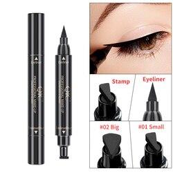 Liquid Eyeliner Pencil Eyeliner Pencil Waterproof Black Double-Headed Stamps Eye Liner Eye Maquiagem Cosmetic Makeup Tool