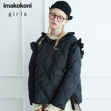 Imakokoni черный короткий пуловер кавайная пуховая куртка оригинальный