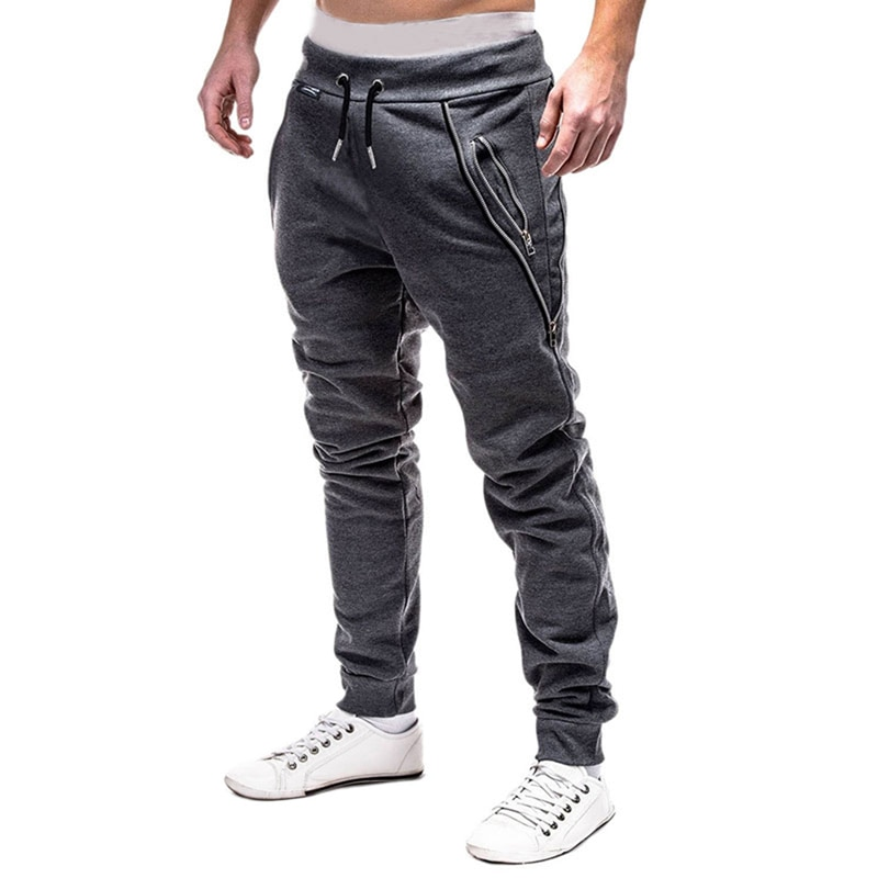 DIHOPE Fashion Men Cross Pants Tether Jogger Pants Leisure Sweatpants Joggers Bodybuilding Gyms Pants Autumn Sweatpants