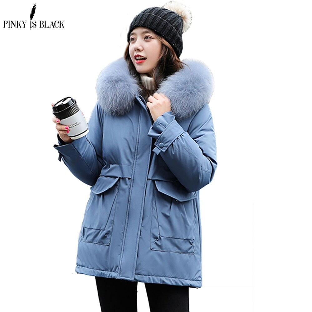 PinkyIsBlack 2020 New Winter Parkas High Quality Hooded Coat Women Fashion Jackets Winter Warm Woman Clothing Casual Jacket Coat