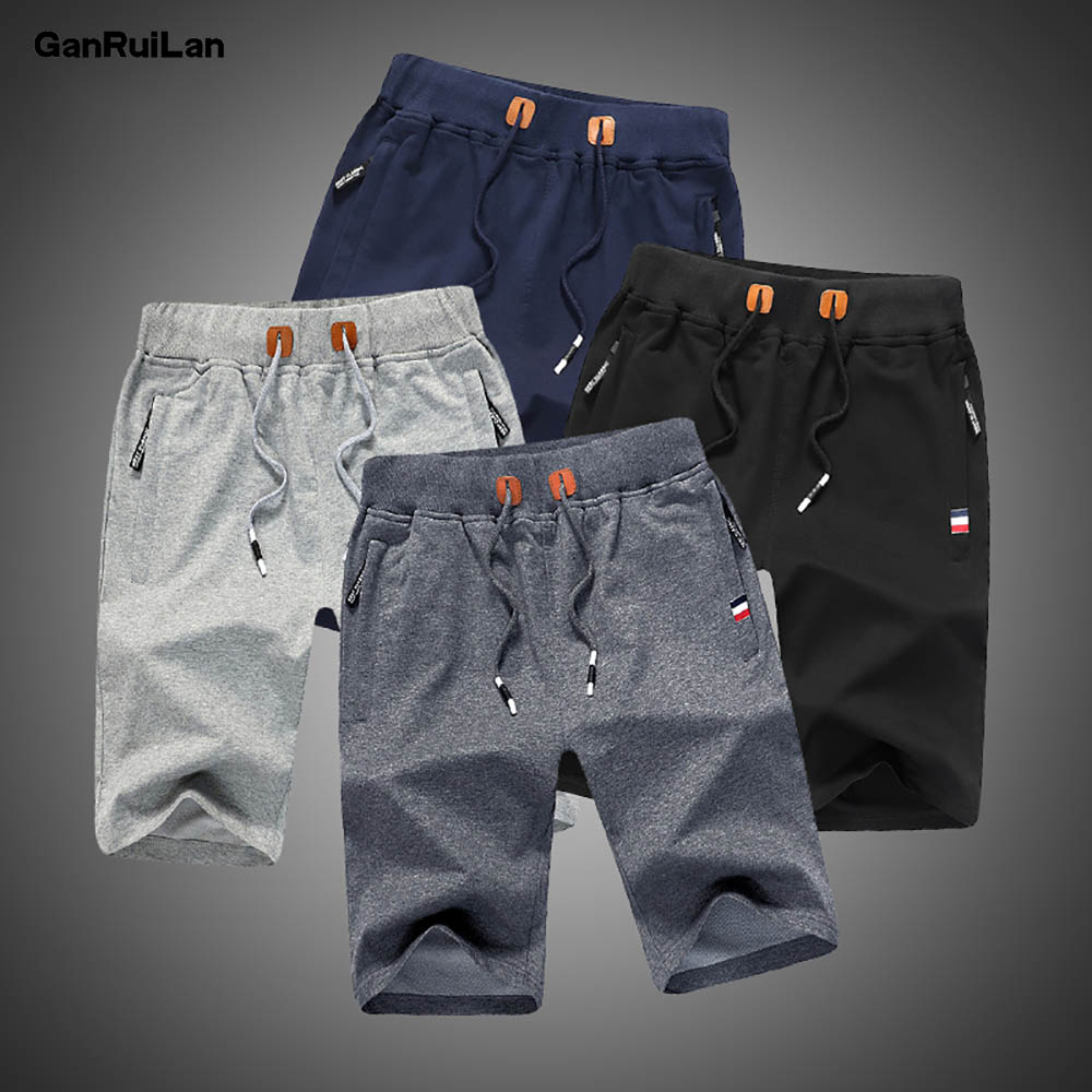 Men Shorts 2020 Summer Solid Mens Casual Shorts Beach Boardshorts Slim Cotton Male Homme Short Trousers Brand Bermuda Masculina
