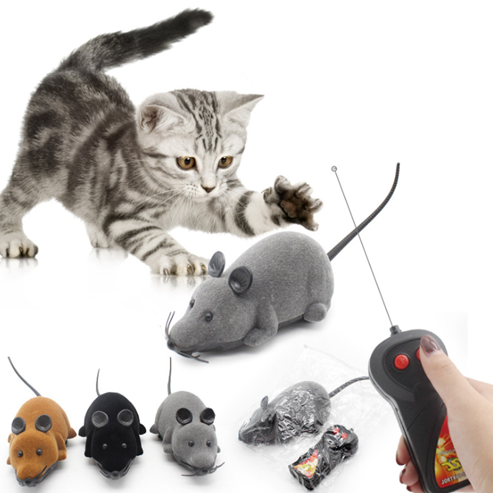 Novelty Mouse Toy Remote Control Cat Kitten Pet Play Toy Cute Mouse Funny Rat Playing Toys Toy For Cats Dogs Remote Control Toy