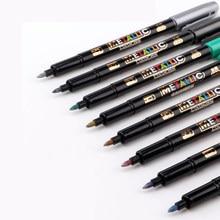 12 Pcs DIY Metall Marker Wasserdichte Permanent Farbe Kunst Malerei Zeichnung Liefert Scrapbooking Graffti Fettige Marker Stift