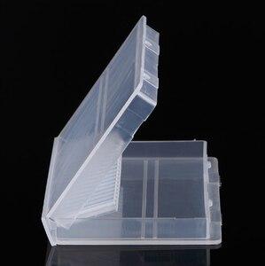 Image 2 - ברור פלסטיק נייל מקדחי אחסון תיבת תצוגת Stand 20 חריצים 14 חריצים ארגונית מקרה מיכל מקצועי מניקור כלים