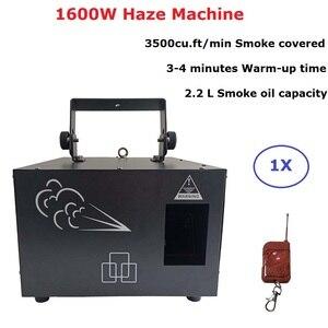 Máquina de humo de alto rendimiento de 1600W, tanque de líquido de 2,2 L, máquina de humo DMX512 para Fiesta Disco, equipos de iluminación de efecto DJ
