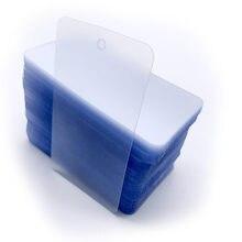 200 pces em branco pvc fosco tags plásticos impermeabilização pendurar tag vestuário plástico claro com furo fosco plástico pendurar tag