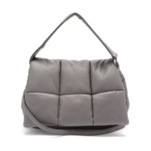Simple Design Qulited Leather Sling Shoulder Bags Large Square Square Women Clutch Handbags and Purse