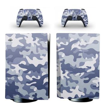 Camo PS5 Standard Disc Edition Skin Sticker Decal Cover for PlayStation 5 Console & Controller PS5 Skin Sticker Vinyl 2