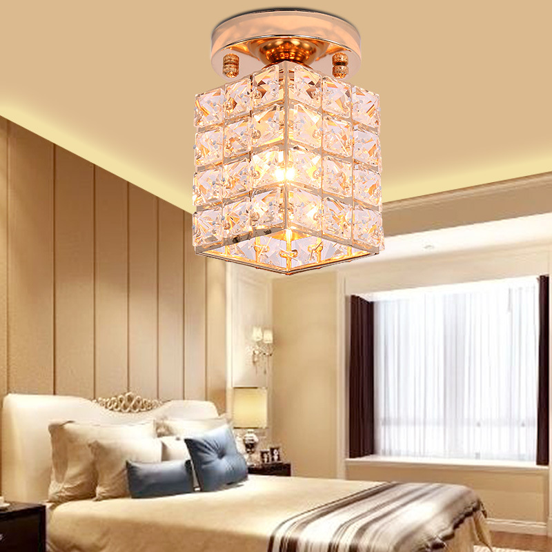 Supply Restaurant Living Room Hallway Ceiling Lamp Modern Minimalist Fashion Crystal Corridor Porch Ting Deng Wholesale