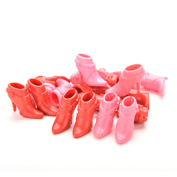 10 Pairs High Heels Shoes Short Boots for Doll Accessories Parts Color Random Mix Pairs image