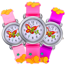 Casual Quartz WristWatch Gift for Girls Clock Fashion Cartoon Butterfly Kid