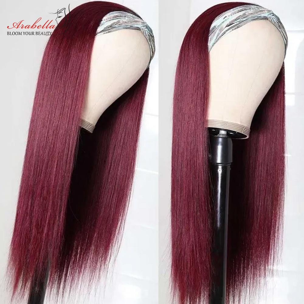 99J Straight Wig  Wigs  Hair Wig   Arabella Glueless Wig Headband Machine Wig 1