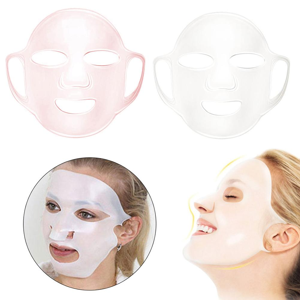 Reusable Silicone Ear-hook Facial Mask Cover Prevent Essence Evaporation Speed Up Better Absorption Moisturizing Face Skin Care