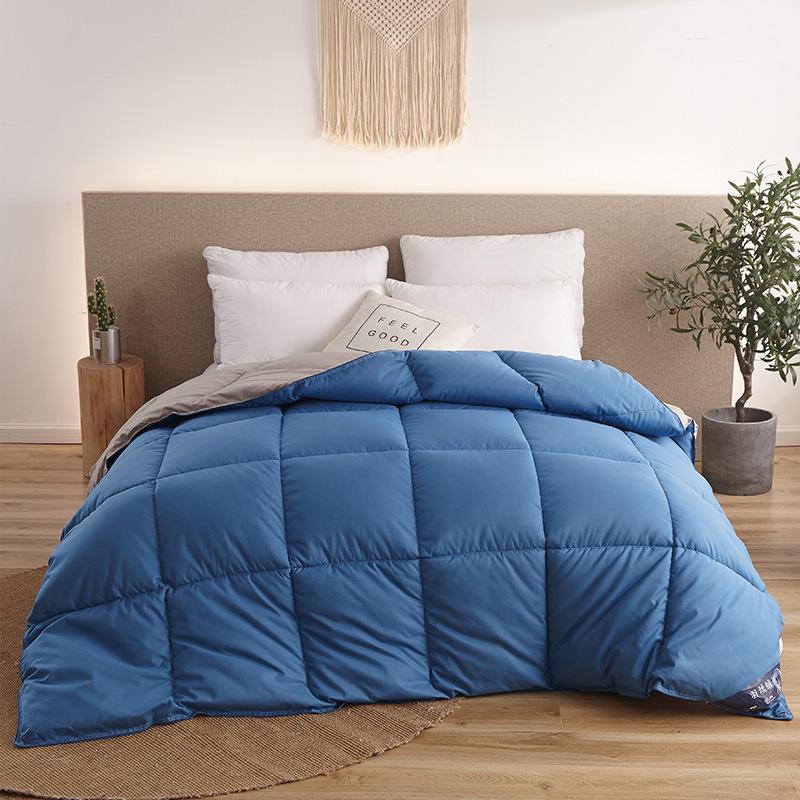 Стеганое одеяло с гусиным/утиным пухом зимнее белое хлопковое