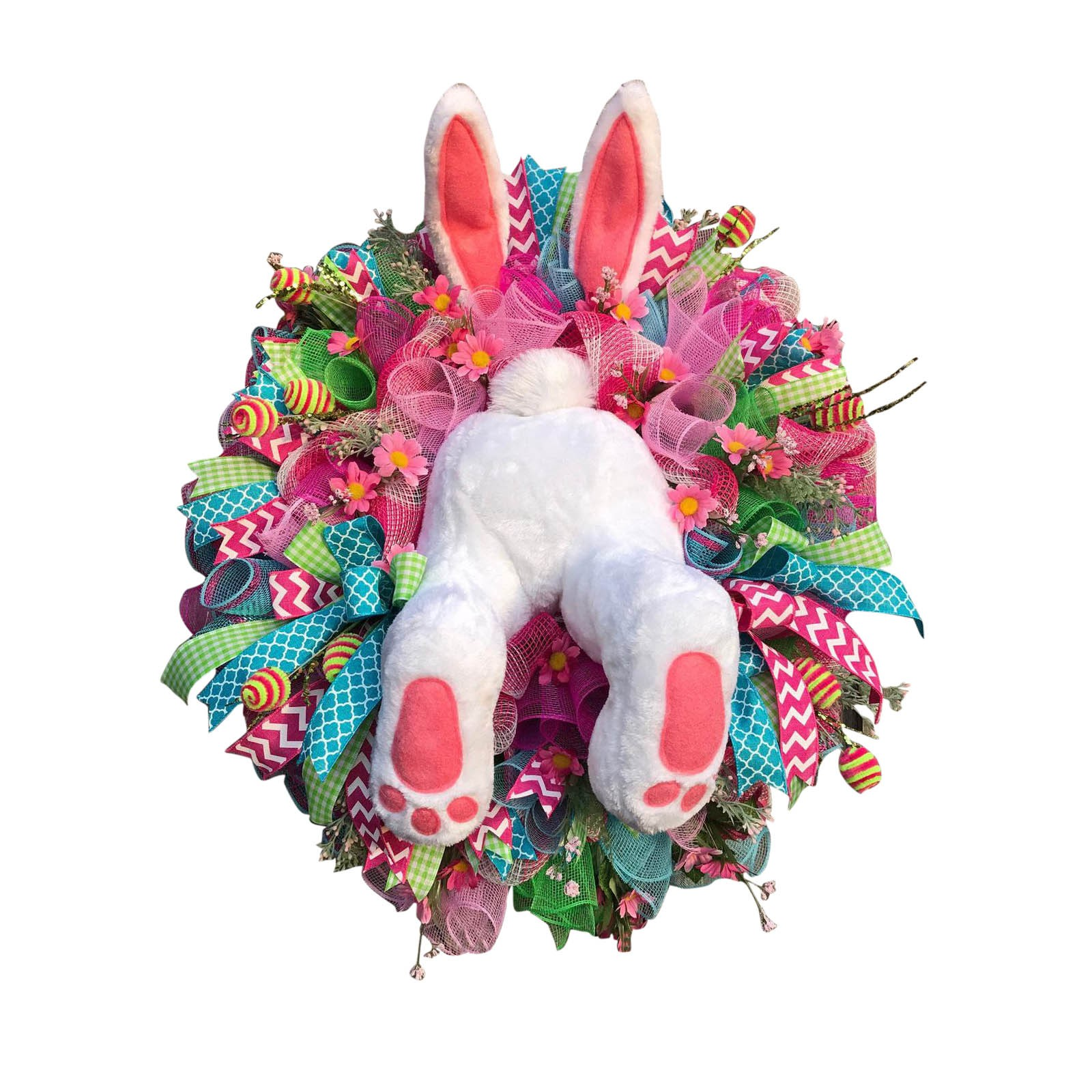 Венок забавный кролик мультфильм животных украшения DIY Украшение Пасхальный кролик для окна, двери DIY подвесная гирлянда праздничного деко...
