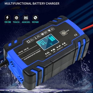 Fully Automatic Car Battery Charger 12V 8A 24V 4A Fast Charging for AGM GEL WET Lead Acid Battery Charger LCD Display(China)
