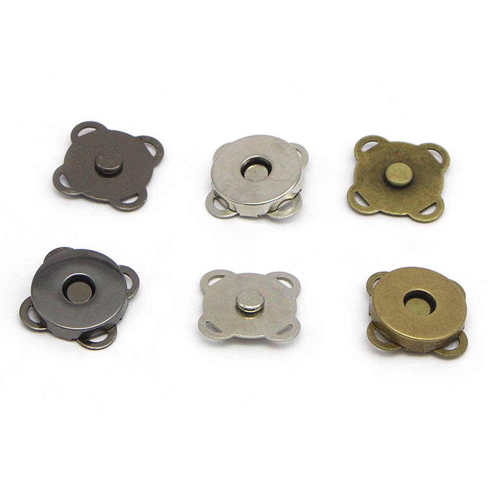5PCS Magnetic Purse Quincunx Snaps For Clasps Closure Sewing Button Wallet Bags Handbag Buckle Bag Accessories 15/19mm