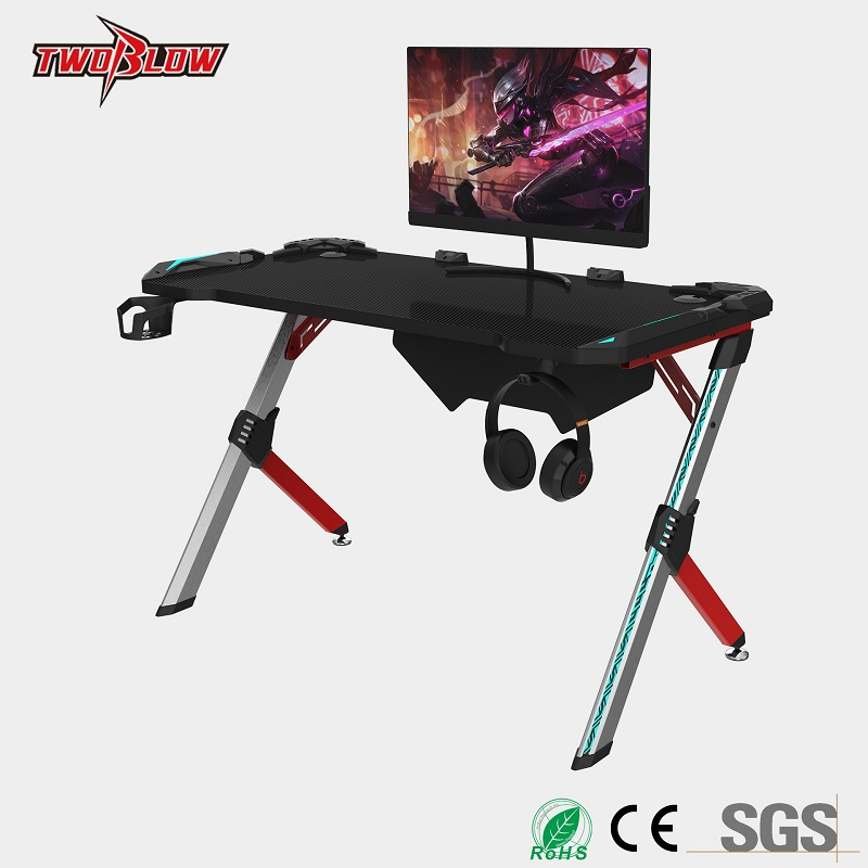 Senior E-sports Computer Table Notebook Desktop Computer Special Table RGB Light Cool Game Table Home Desk Internet Bar Table
