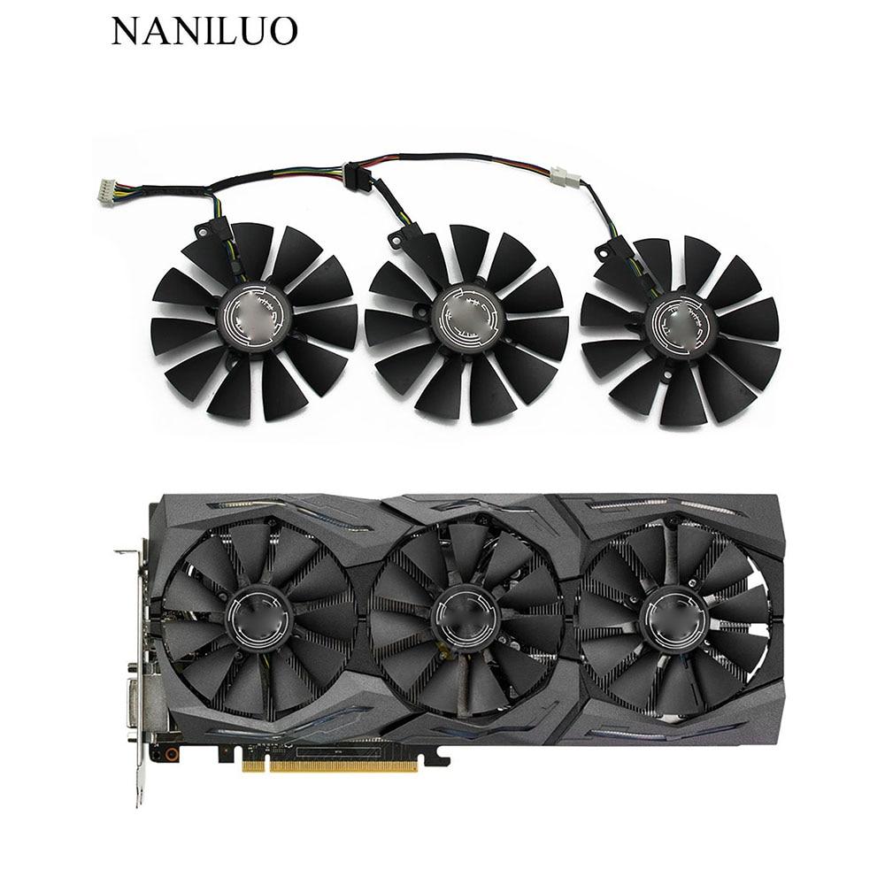 New 87MM FDC10U12S9-C FDC10H12S9-C Cooling Fan Replace For ASUS Strix GTX 1060 OC 1070 1080 GTX 1080Ti RX 480 Graphics Card Fan