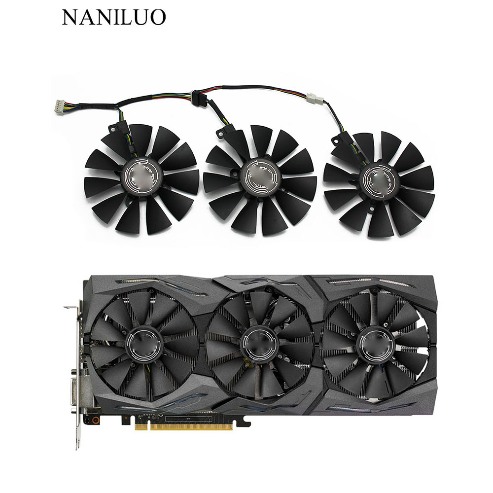 New 87MM FDC10U12S9-C FDC10H12S9-C Cooling Fan Replace For ASUS Strix GTX 1060 OC 1070 1080 GTX 1080Ti RX 480 Graphics Card Fan image