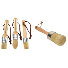 Wax-Paint-Brush with 3pieces Chalk And Bristles-Painting-Tool Round 2-In-1 Natural Large