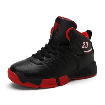 2020 nowy marka dziecięcy strój do koszykówki buty chłopcy trampki antypoślizgowe obuwie dziecięce dla chłopca dziewczyny trampki oddychające buty sportowe tanie i dobre opinie KevinSmith Unisex Buty do koszykówki CN (pochodzenie) Wszystkie pory roku RUBBER