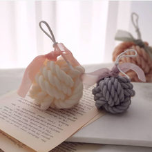 Two Size Wool Ball Candle Silicone Molds Candle Mold Coarse Yarn Ball Design Handmade Candle Making Wax Mold