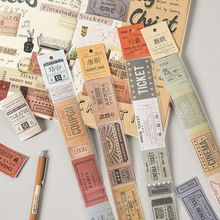 Sticker Masking-Tape Tape-Set Label Decorative Scrapbooking Adhesive Travel-Stamps Washi