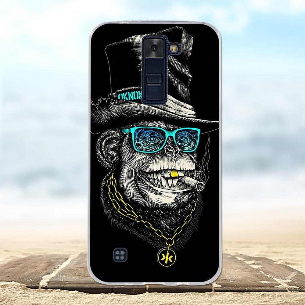 Yang TPU Soft Case untuk LG K8 LTE 2016 K350 K350E K350N Silicone Telepon Kembali untuk Capa LG K8 2016 Case Penutup untuk LG K8 LTE Case